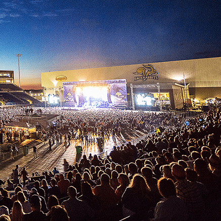 Luke Bryan playing at Dana J Dykhouse Stadium